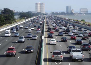 Image credit: Wikipedia, rush hour traffic in the US