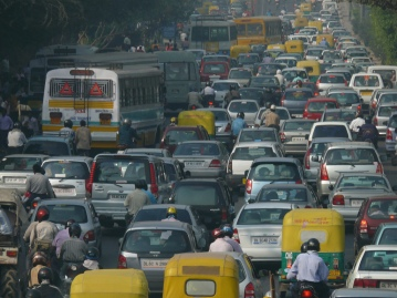 Image credit: Wikipedia, rush hour traffic in India