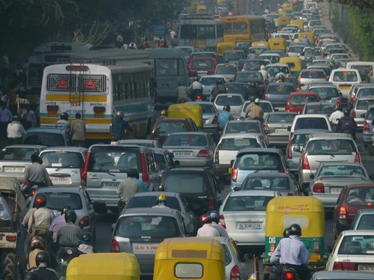 Image credit: Wikipedia, rush hour traffic in India